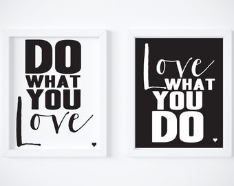 Do What You Love Love What You Do Quote Mesmerizing Do What You Love  Etsy