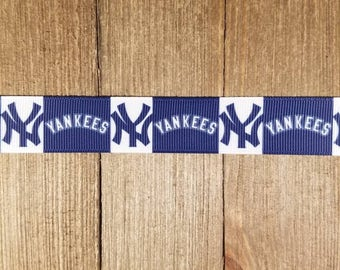 New York Yankees 7/8 Inch Grosgrain Ribbon