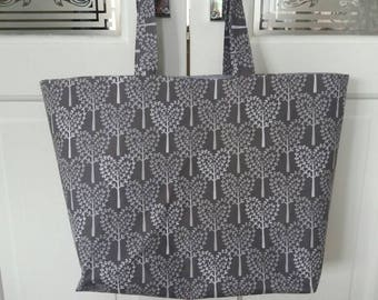 Large shopping bag -tree hearts