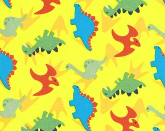Dino Land Cotton Fabric Dinosaur Print Spring Creative   By the Yard