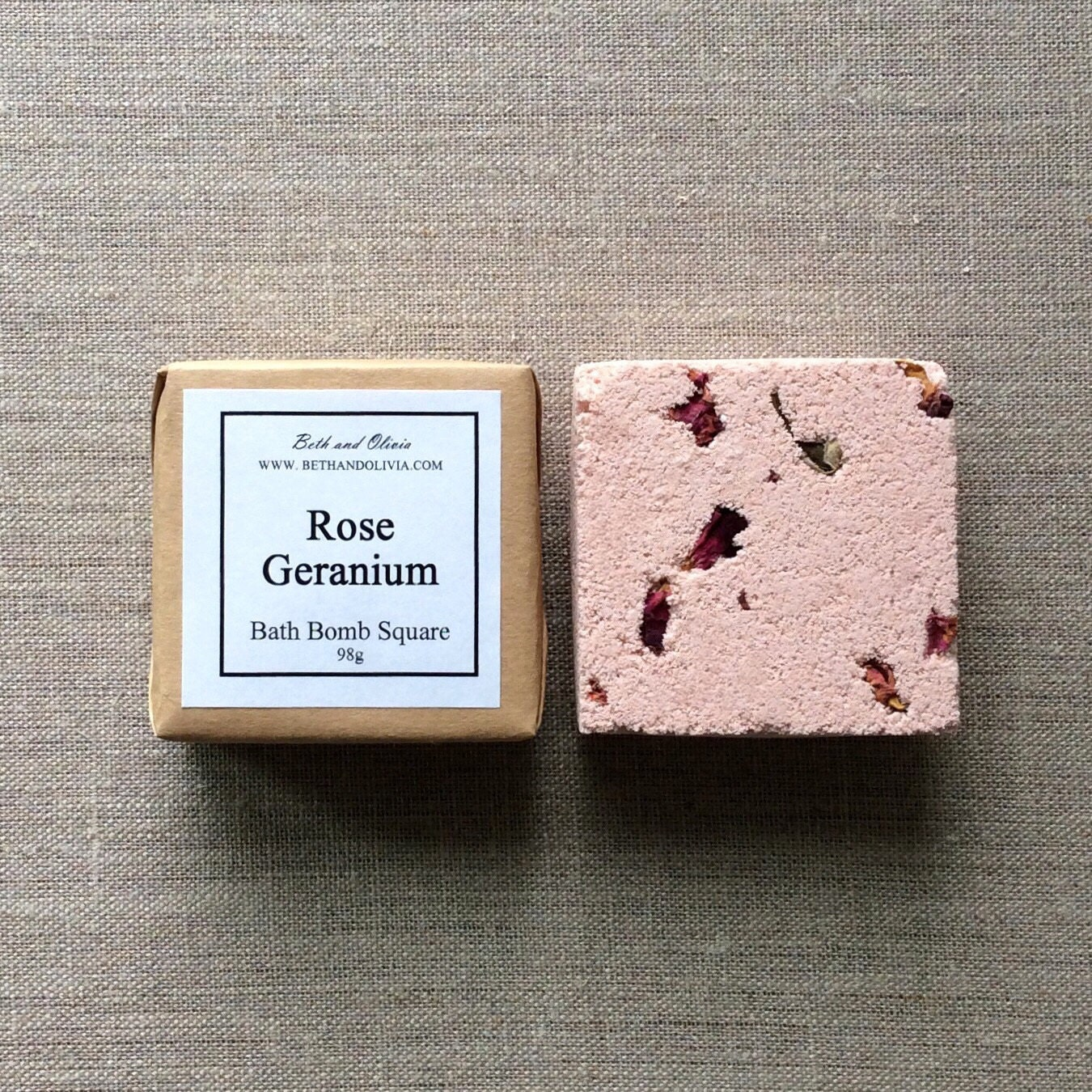Set of 6 Rose Geranium Bath Bombs, gifts for her, bath bomb squares, bath bombs, Wholesale bath bombs, Rose bath bomb, stocking stuffers