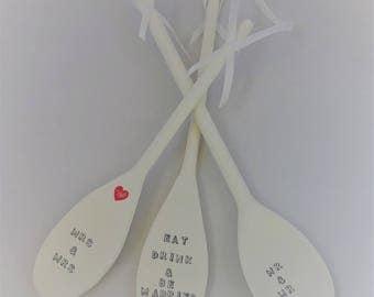 Wedding Wooden Spoon, Wedding Keepsake, Good Luck
