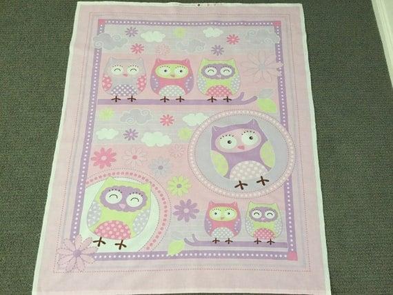 Baby quilt fabric. Girl fabric. Nursery fabric Novelty fabric Owl ... : fabric for baby quilts - Adamdwight.com