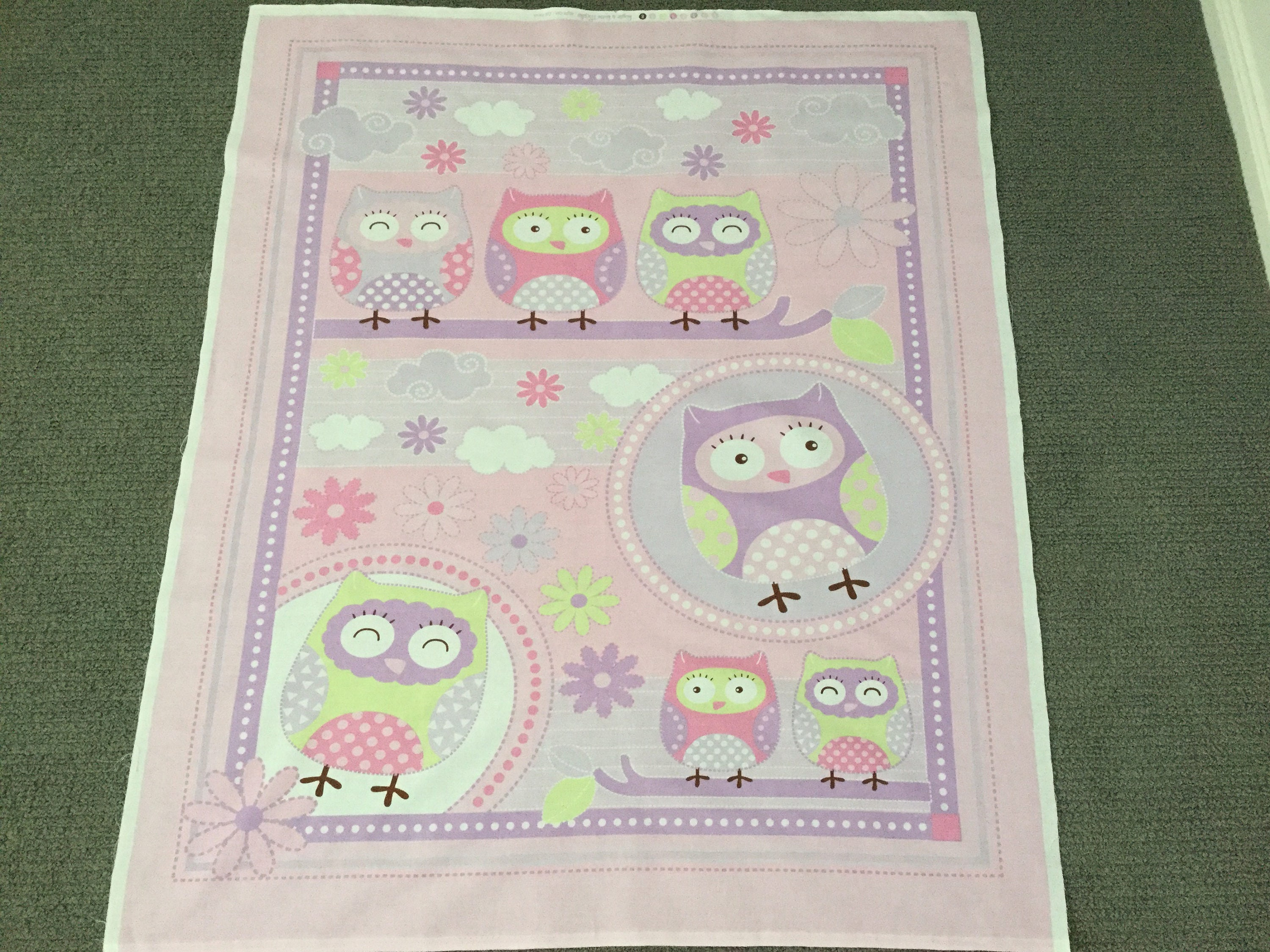 Baby quilt fabric girl fabric nursery fabric novelty for Baby girl fabric