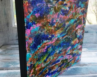 12x12, Mixed Media Abstract, Cradled Panel, Fine Art, Abstract, Colors