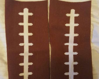 Double sided football baby leg warmers