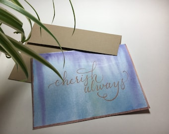 "PRINTABLE Greeting Card - ""Cherish Always"""