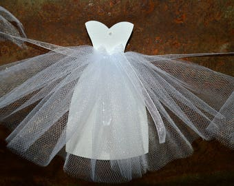 Wedding Dress Garland, Bridal Shower Decorations, Bride Gown Banner, Unique Shower Decoration, Sweetheart Bride Gown, Bridal Shower Decor