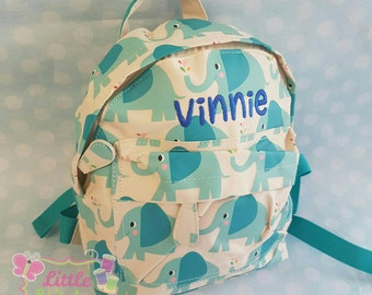 Personalised elephant backpack, perfect for nursery or school bag ,kindergarten bag , toddler bag ,  elephant , 1st birthday gift