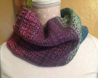 Handwoven hand dyed Supima Cotton Cowl scarf