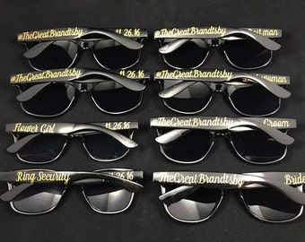 Bridal Party Sunglasses - Custom Sunglasses - wedding sunglass favors - Customizable Sunglasses