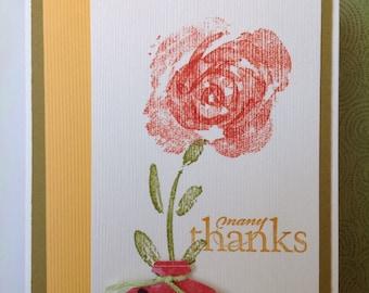 Handmade card- thank you card- owl card- grateful-