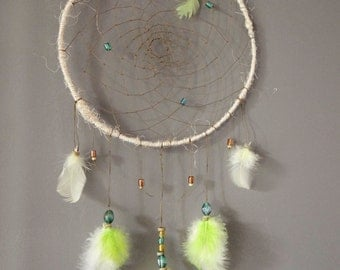 Green and yellow dream catcher