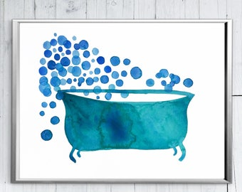 Bathtub Art - Bathroom Wall Decor - Bathtub Art - Modern Bathroom Art - Bathroom Art Set - Funny Bathroom - Bathroom Picture - Print