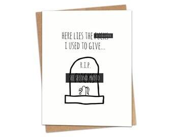RIP F*cks Greeting Card SKU C145