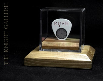 ALEX LIFESON / RUSH: authentic guitar pick and display case