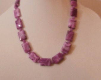 SALE   Mother's Day   Purple Crazy Lace Agate and natural purple Jade gemstone necklace