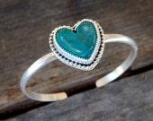 Turquoise love cuff