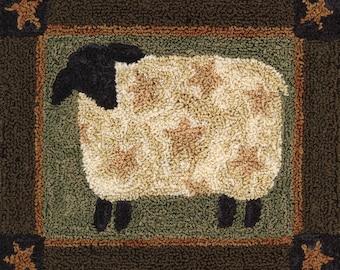 Punchneedle Embroidery PATTERN - Star Lamb