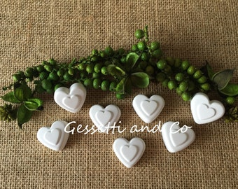 60 scented HEARTS Chalks for wedding favor, placeholder, marriage