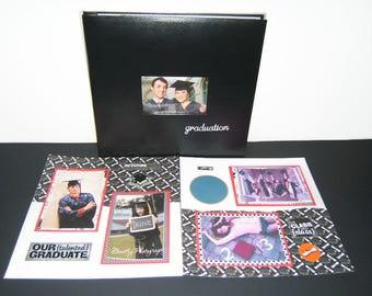 Graduation Scrapbook Album - Graduation Party Idea - Graduation Gift - High School Graduation - Graduation photo album - Premade Grad Book