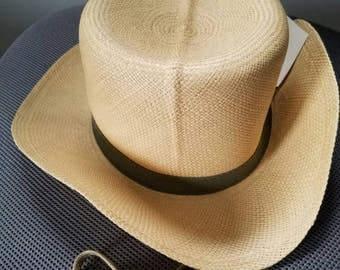 Vintage Men's Panama Pantropic Straw Hat