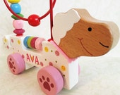 Activity loop sheep personalised motor skills baby wooden learning toy