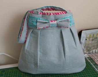 Hobo, Bags, Shopper, Fabric, Large, Lined, Pockets, Shoulder, Straps, Bow Bag,