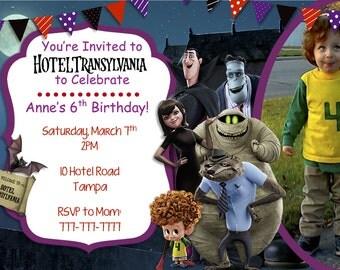 Hotel Transylvania with Picture Invitation