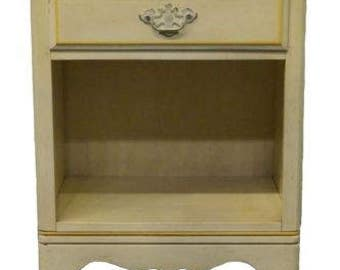 ETHAN ALLEN Hand Decorated Nightstand 423 Antique White Finish 14-5106