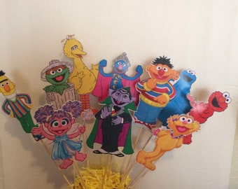 Sesame Street Centerpiece Sticks- I can do any theme!