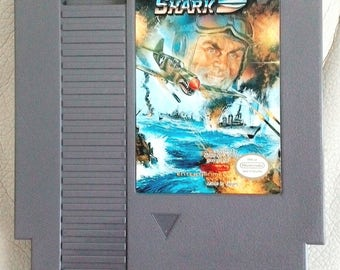 Vintage Nintendo Game Sky Shark Taito 1987, NES, Video Game classic