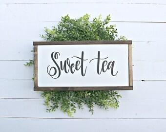 Sweet Tea Wood Sign,farmhouse,farmhouse sign,home decor,farmhouse decor,framed sign,modern farmhouse,Home and Living, Wall Decor,Shiplap
