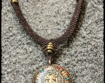 Nepali Filigrane - Bronze Beads - Ohm - Spirit - Travel - Ethnic - Buddism - Boho -