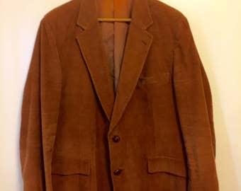 Mens Vintage Copper/Brown Corduroy Coat