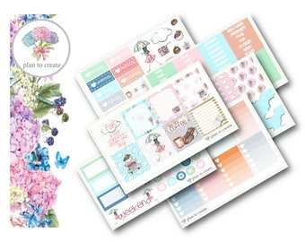 Rainy Day Weekly Planner Sticker Kit