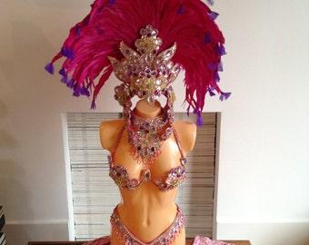 Baby pink Professional Samba Costume, Carnival and Showgirls
