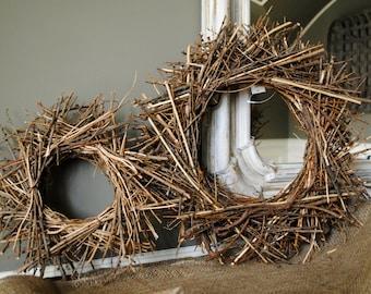 Rustic Wreath~Twig Wreath~Brown Wreath~Centerpiece base~Decorative Wreath~Accent Decor