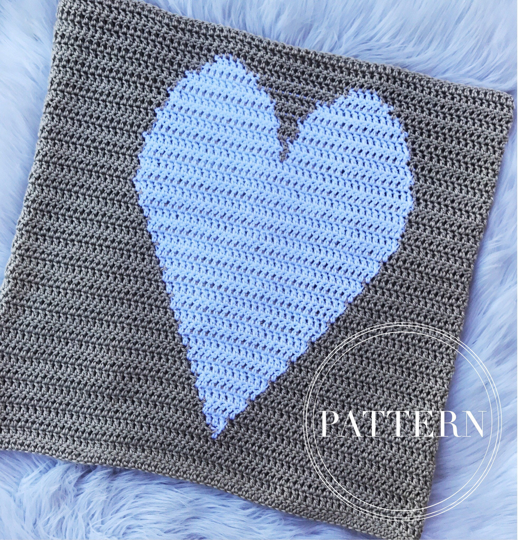 Crochet heart baby blanket pattern easy stroller blanket this is a digital file bankloansurffo Images