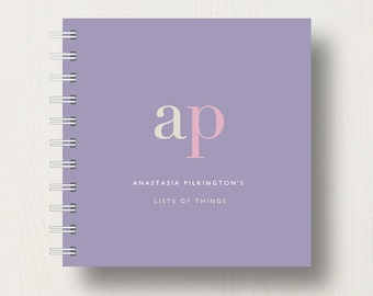 Personalised Initials Small Notebook
