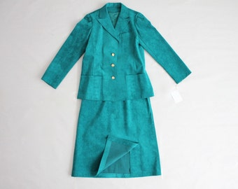 teal ultra suede suit | teal suit | ultra suede fabric