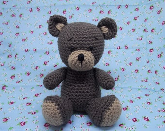 Crochet Bear, Amigurumi Bear, MADE TO ORDER, Crochet Father's Day gift, Fathers Day gift, New baby gift