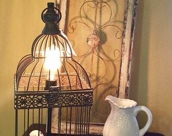 Vintage Birdcage lamp