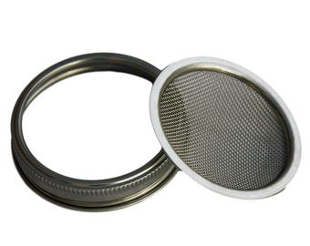Stainless Steel Sprouting Lid for Mason Jars *Wide Mouth | sprouts | DIY | sifting | strainer | straining | sieve