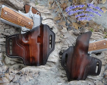 1911 Holster, Holster, 1911 Pancake Holster, Molded Holster, leather holster