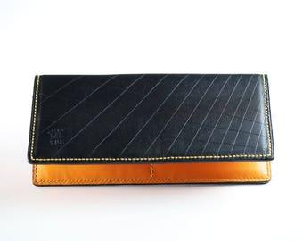 Tri-Color Long Wallet