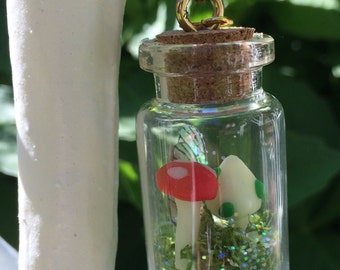 Faerie toadstool magic charm necklaces