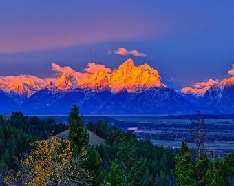 Grand Teton National Park Let There Be Light Fine Art Giclee Print, Modern Wall Art Featuring Fine Art Nature Photography, Jackson Hole