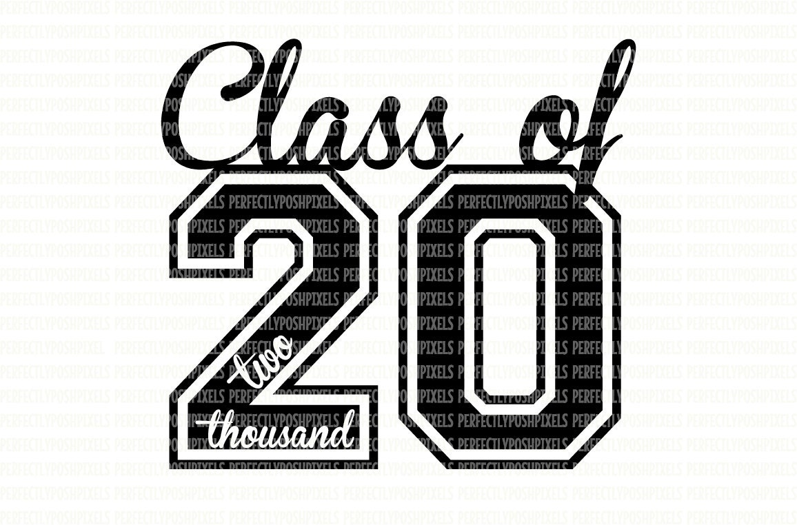 Class of 2020 SVG Printable Clipart Graduation Cut File