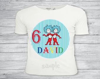 Dr Suess t-shirt, iron on transfer, Dr Suess tshirt, Dr Suess party, Dr Suess birthday- Printable